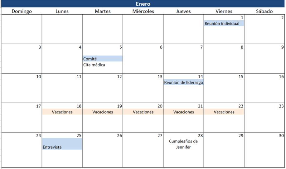 Calendario Con Excel.Insertar Calendario En Excel 2010