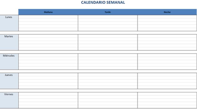Calendario Para Escribir.Plantillas De Excel Gratis Para Crear Calendarios