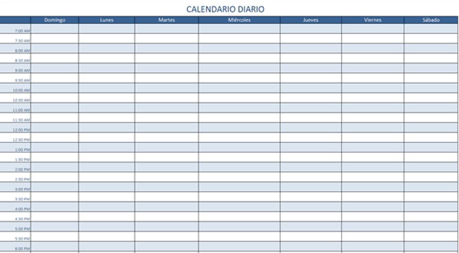 Plantillas de Excel gratis para crear calendarios