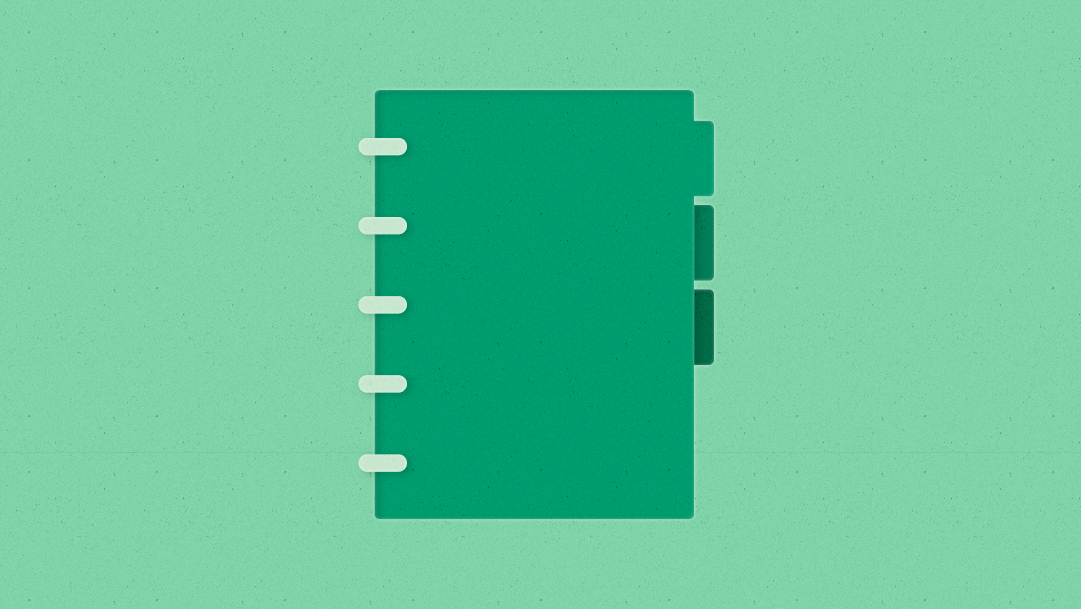 Illustration of a notebook