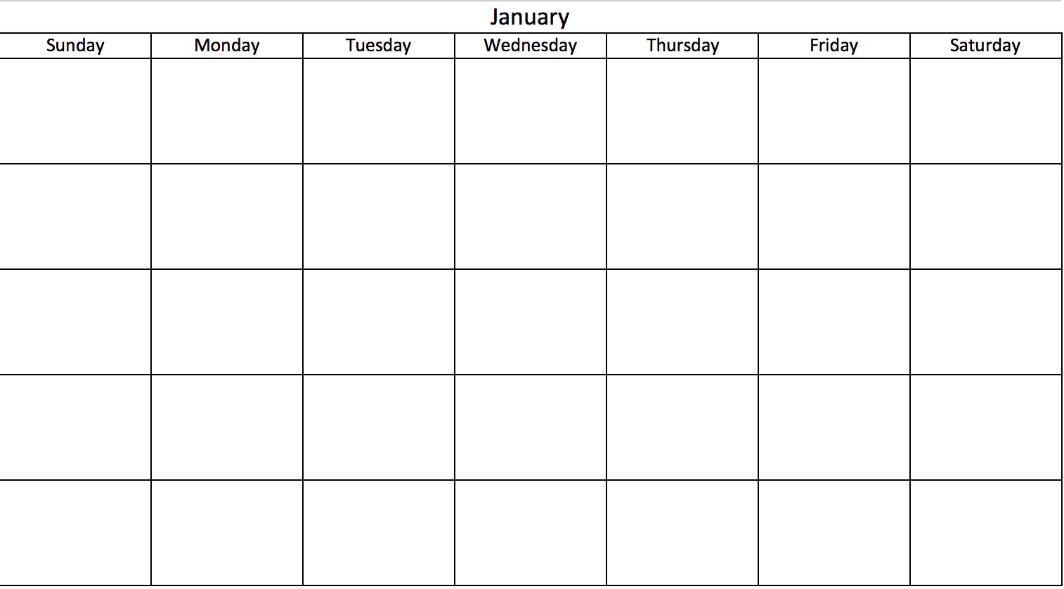 Mini Calendario 2019 Para Imprimir Grande.Plantillas De Calendario En Excel Gratuitas Y Listas Para