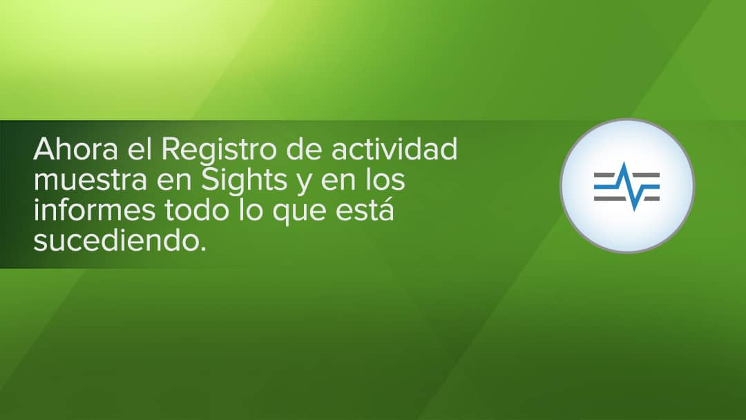 Registro de actividad para Sights y informes en Smartsheet